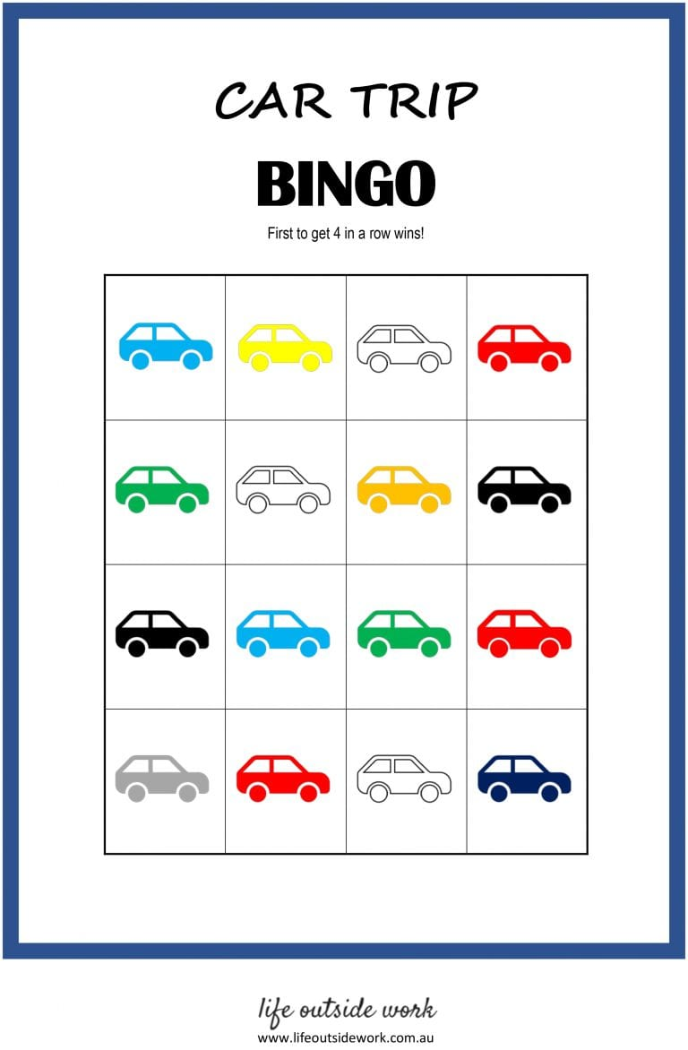 graphic relating to Travel Bingo Printable known as Motor vehicle Drive Game titles + cost-free printables lifetime outdoors function