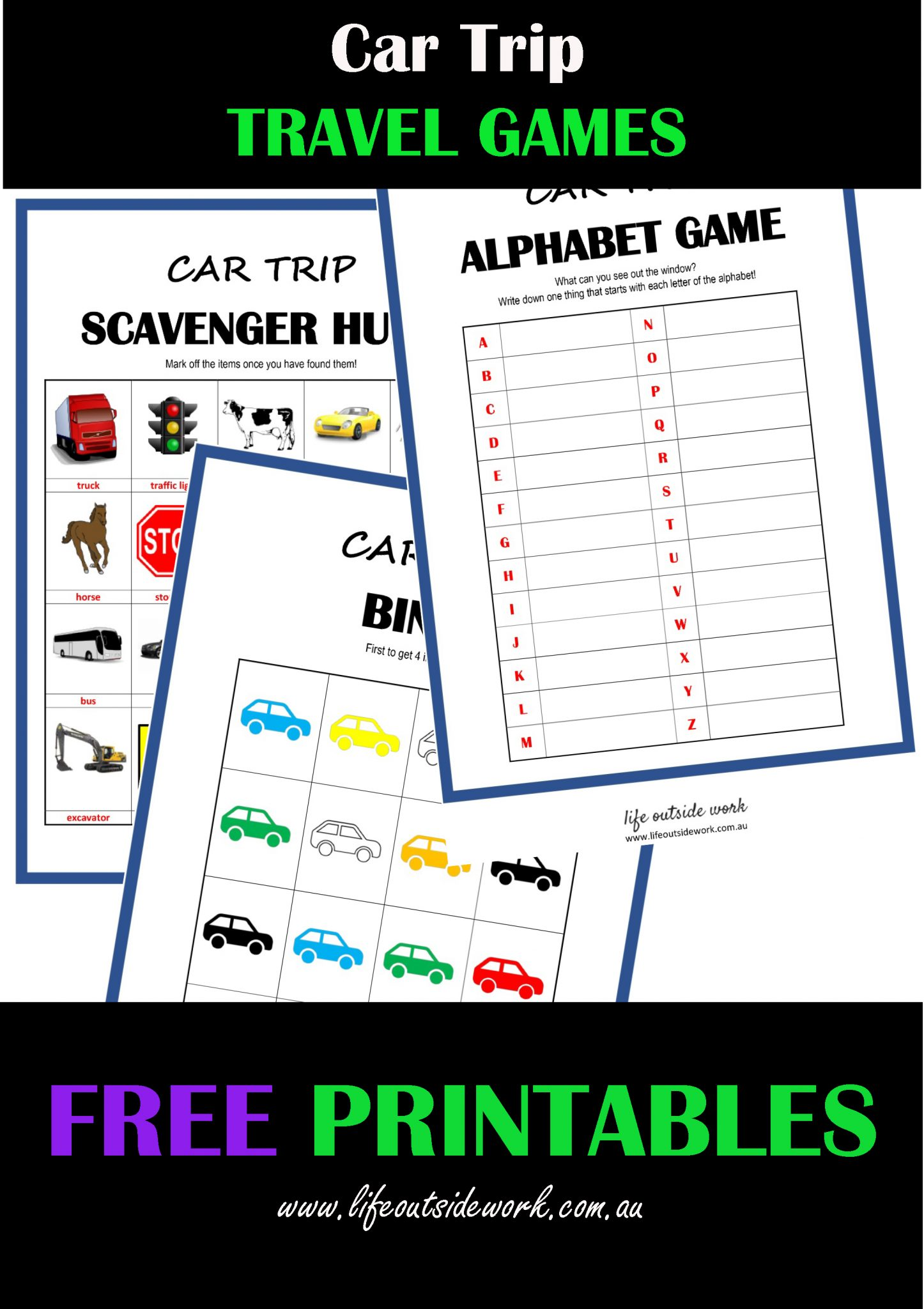 Car Travel Games Free Printables Life Outside Work