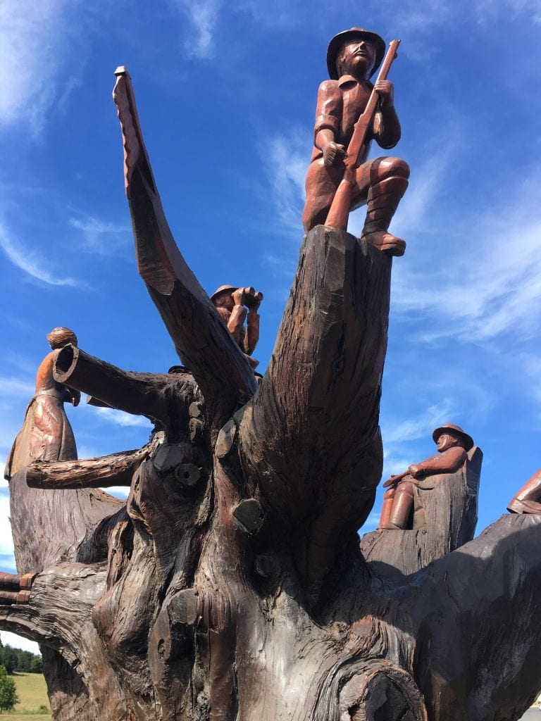 Legerwood memorial carved trees tasmania life outside work